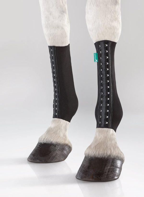 EquiCrown fit in schwarz, Kompressionsbandage für Pferde