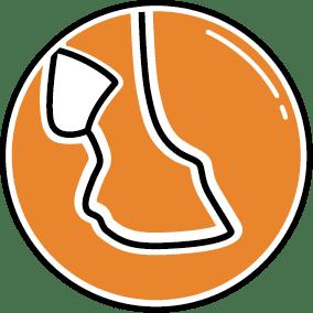 Flexible Zone im Fesselbereich